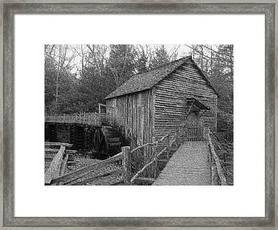Cades Cove Grist Mill In Cades Cove Framed Print by Steve Carpenter