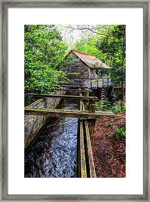 Cades Cove Grist Mill In The Great Smoky Mountains National Park  Framed Print