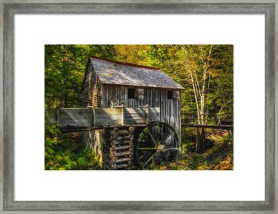 Cades Cove John Cable Grist Mill - 1 Framed Print by Frank J Benz