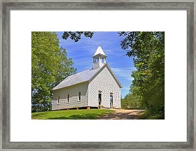 Cades Cove Methodist Church Framed Print by Paul Mashburn
