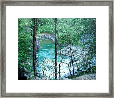 Framed Print featuring the painting Cades Cove by Mike Ivey