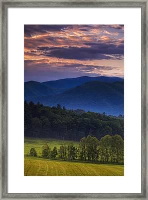 Cades Cove Morning Framed Print by Andrew Soundarajan