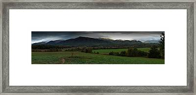 Cades Cove Panoramic Framed Print