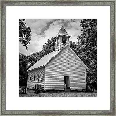 Cades Cove Primitive Baptist Church - Bw 1 Framed Print