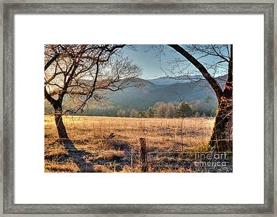 Framed Print featuring the photograph Cades Cove, Spring 2017 by Douglas Stucky