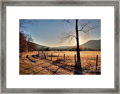 Framed Print featuring the photograph Cades Cove, Spring 2017,i by Douglas Stucky