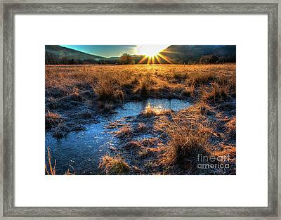 Framed Print featuring the photograph Cades Cove, Spring 2017,ii by Douglas Stucky