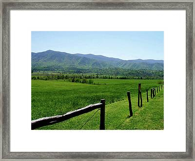 Cades Cove View Framed Print