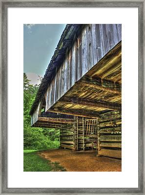 Cades Cover Cantilever Barn 2 Framed Print by Reid Callaway