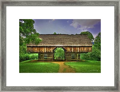 Cades Cove's Cantilever Barn Framed Print
