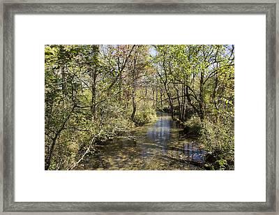 Cades Creek Framed Print by Ricky Dean