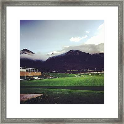 Cadet Athletic Fields Framed Print