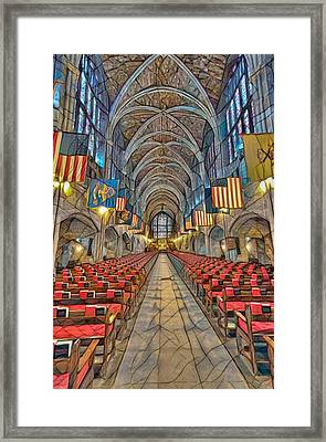 Framed Print featuring the photograph Cadet Chapel Remix by Dan McManus
