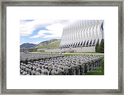 Cadets Recite The Oath Of Allegiance Framed Print by Stocktrek Images