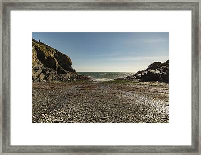 Framed Print featuring the photograph Cadgwith Cove Beach by Brian Roscorla