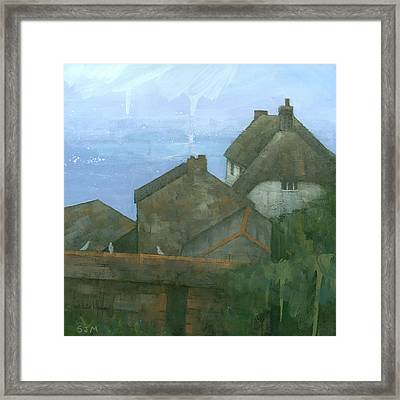 Cadgwith Rooftops Framed Print by Steve Mitchell