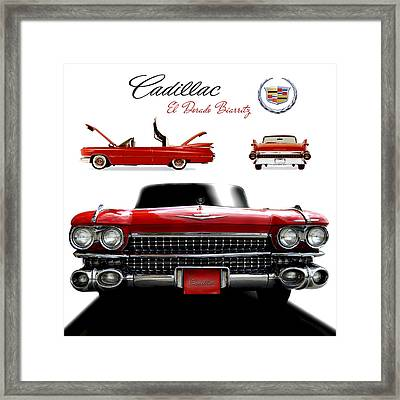 Framed Print featuring the photograph Cadillac 1959 by Gina Dsgn
