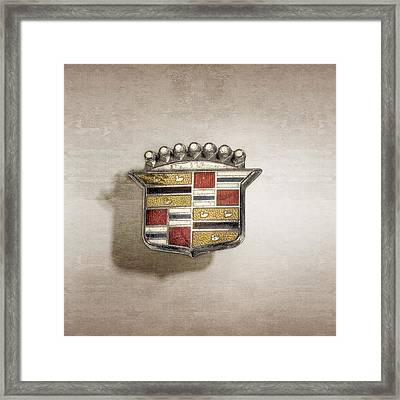 Cadillac Badge Framed Print by YoPedro