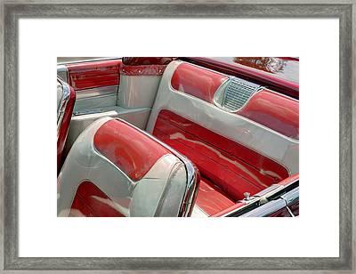 Cadillac El Dorado 1958 Seats. Miami Framed Print
