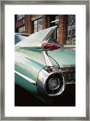 Cadillac Fins Framed Print