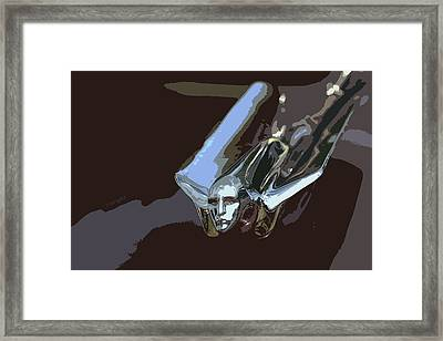 1949 Cadillac Hood Ornament Framed Print by Yvonne Wright
