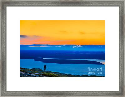 Cadillac Mountain Sunrise Scene 3538 Option 2 Framed Print