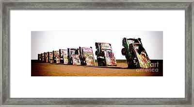 Cadillac Ranch 3 Framed Print by Bob Christopher