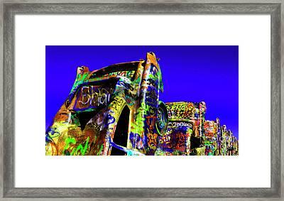 Cadillac Ranch 5 Framed Print by Bob Christopher