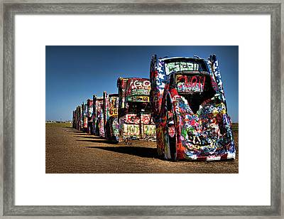 Cadillac Ranch Framed Print by Lana Trussell