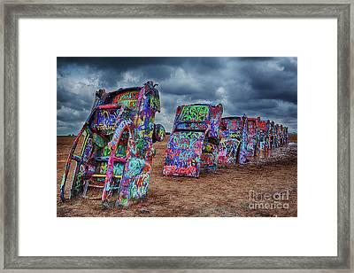Cadillac Ranch Of Amarillo Texas Framed Print