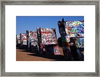Cadillac Ranch On Route 66 Framed Print
