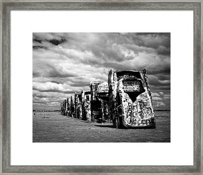 Cadillac Ranch Framed Print by Sonja Quintero