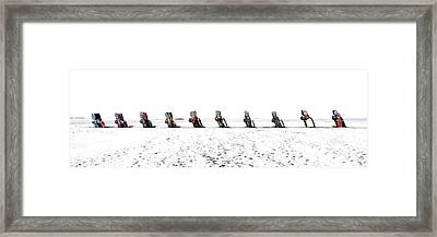 Cadillac Ranch Whiteout 001 Framed Print
