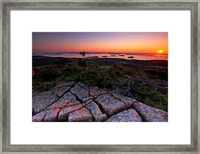Cadillac Rock Framed Print