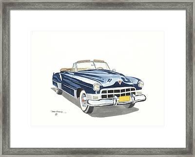 Cadillac Series 62 1949 Framed Print by John Kinsley