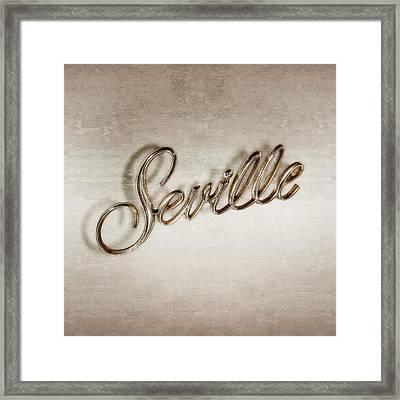 Cadillac Seville Emblem Framed Print