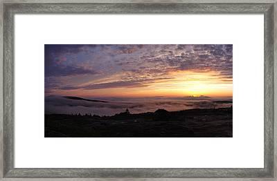 Cadillac Sunset IIi Panorama Framed Print by Rockstar Artworks