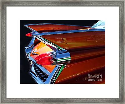 Framed Print featuring the photograph Cadillac Tail Fin View by Patricia L Davidson