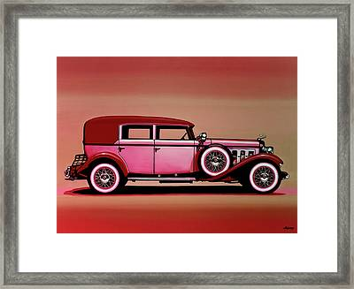 Cadillac V16 Mixed Media Framed Print