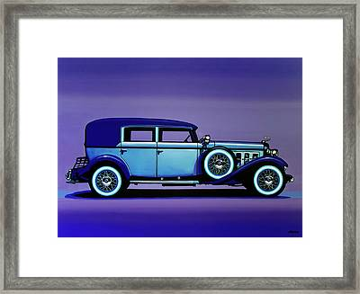 Cadillac V16 1930 Painting Framed Print by Paul Meijering