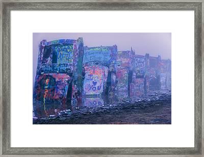 Cadillacs In The Mist Framed Print