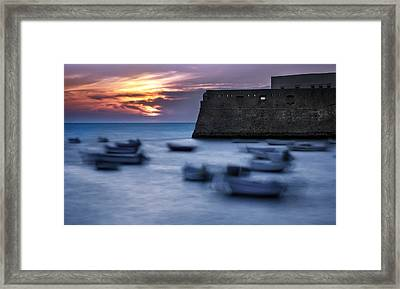 Cadiz Sunset Framed Print
