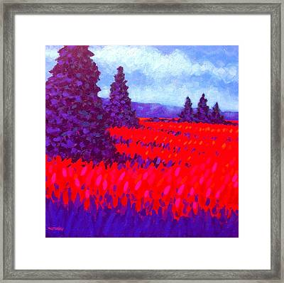 Cadmium Field Framed Print