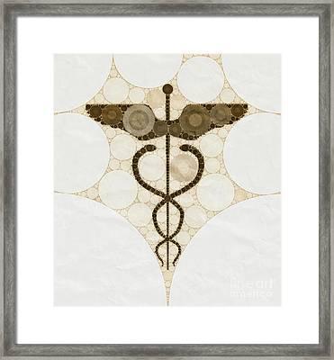 Caduceus By Mb Framed Print
