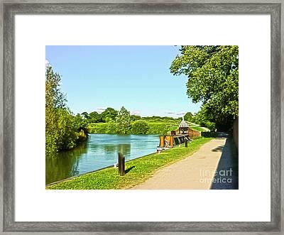 Caen Hill Locks Framed Print by Terri Waters