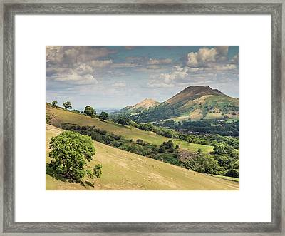Caer Caradoc And The Lawley Framed Print by Richard Greswell