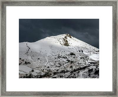 Caer Caradoc Winter Framed Print by Richard Greswell