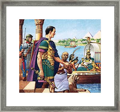 Caesar And Cleopatra Framed Print