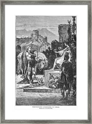 Caesar And Vercingetorix Framed Print