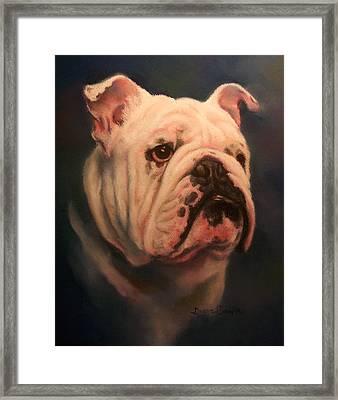 Caesar Framed Print by Diane Caudle